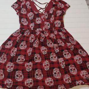 Plaid Skull dress